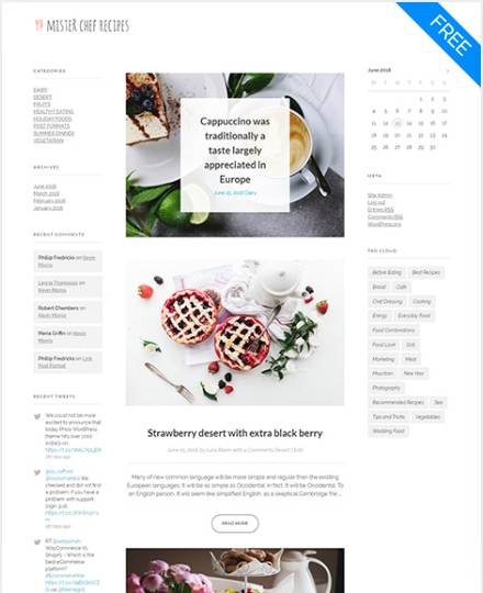 Strony w abonamencie - Interpress+ - Demo-Phlox-food-blog